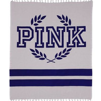 VICTORIA'S SECRET PINK Boyfriend Beach Blanket Towel (Grey)