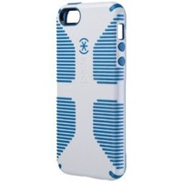 Speck Products CandyShell Grip Case for iPhone SE/5/5S  -Retail Packaging- White/Harbor Blue