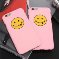 Cute Pink Smile Face Case Cover for Apple iPhone 5s 5 SE 6 6S 6 Plus 6S Plus 160829_P01SG