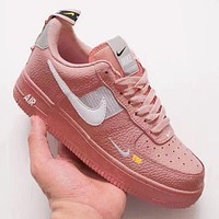 Alwayn Nike Air Force 1 Low Tide brand deconstruction short version of men and women low-cut casual sports shoes Pink