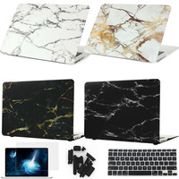 Marble Texture Cover hard Case For Apple Macbook Air Pro Retina 11 12 13 15 For Mac book 13.3 inch with Touch Bar Laptop bag