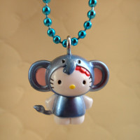 Sanrio Hello Kitty Blue Elephant Charm Necklace by SFMissionFinds