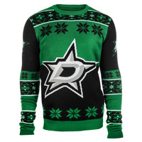 Dallas Stars Forever Collectibles Big Logo Ugly Sweater Sizes S-XXL w/ Priority Shipping