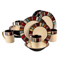 Tabella Mosaic 16 pc Dinnerware Set