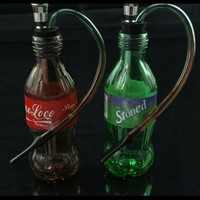 Arabia hookah smoking Cola Sprite glass crystal practical hookah bucket small portable water