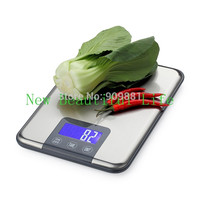 15KG*1g Large Kitchen Electronic Scales Max Capacity 15KG Digital Food Weight Balances Slim Stainless Steel Scale