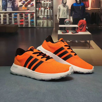 """""""Adidas NEO"""" Fashion Casual Multicolor Stripe Breathable Net Unisex Sneakers Couple Running Shoes"""