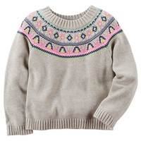 Carter's Fairisle Sweater - Baby Girl, Size: