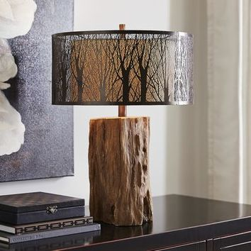 Etched Birches Lamp