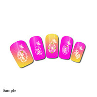 Nail Decals Fancy Nail Wraps Nail Stickers DIY Nail Decoration Lace Butterfly