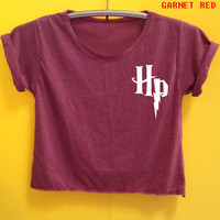 Harry potter shirt crop shirt Tshirt Woman'Clothing size S M L