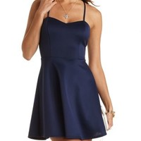 Strappy-Back Skater Dress by Charlotte Russe