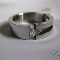 CZ Stainless Steel ring