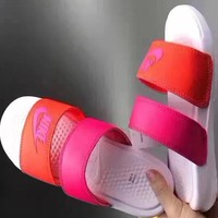 shosouvenir ? Nike: double straps sports slippers-4