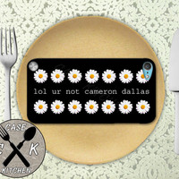 Lol Ur Not Cameron Dallas Daisy Flower Pattern Cute Custom Rubber Case iPod 5th Generation and Plastic Case For The iPod 4th Generation