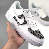 Nike Dior Air Force One low-top casual sports shoes for men and women-3