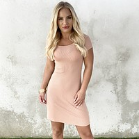 Cafe Love Dress in Apricot