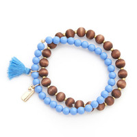 Shop Tassel Wood Bead Bracelet at vineyard vines