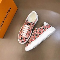Louis Vuitton   Men Fashion Boots fashionable Casual leather Breathable Sneakers Running Shoes