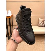 lv louis vuitton trending womens men leather side zip lace up ankle boots shoes high boots 198
