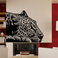 Vinyl Wall Decal Sticker Laying Leopard #5480