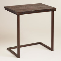 Oversized Wood and Metal Laptop Table - World Market