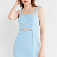 UO Straight-Neck Cut-Out Bodycon Mini Dress | Urban Outfitters