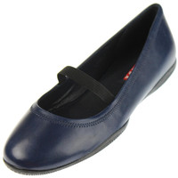 Prada Womens Leather Round Toe Ballet Flats