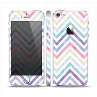 The Subtle Vintage Multi-Colored Chevron Pattern Skin Set for the Apple iPhone 5
