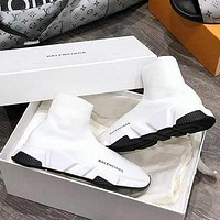 White Balenciaga Woman Men Boots Fashion Breathable Sneakers Running Shoes