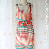 SPECIAL SALE  Strip Maxi Sundress  by LovelyMelodyClothing on Etsy