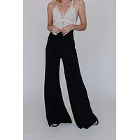 Love Me Wide Leg Pants - Black