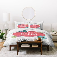 Lara Kulpa Choose Happy Duvet Cover