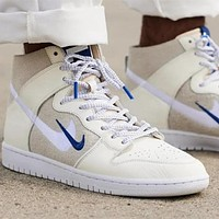 Nike Dunk Sb suede embroidered double hook high-top sports running shoes