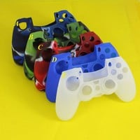 Joystick Skin for Sony PS4 Playstation 4 Case Play Station PS 4 Dualshock 4 Controller Console Controle Joypad Cover Accessory