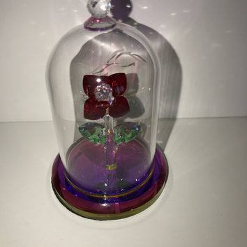 Disney Parks Beauty and the Beast Arribas Brothers Crystal Rose New with Box