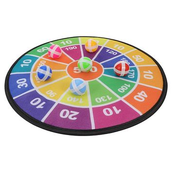 1 Set Kids Dart Board with Sticky Balls Child Indoor Outdoor Games Plaything (As Shown)