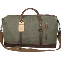 EVERVANZ OVERSIZED TRAVEL OLIVE DUFFLE BAG