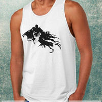 Harry Potter Stag Patronus and Dementor Clothing Tank Top For Mens