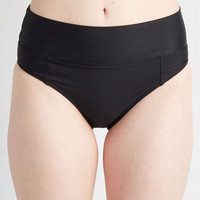 ModCloth 80s High Waist Sol Mates Swimsuit Bottoms in Black