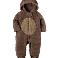 Hooded Sherpa Reindeer Jumpsuit