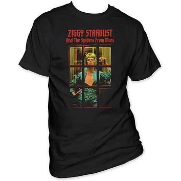David Bowie Ziggy Phonebooth Mens T-Shirt