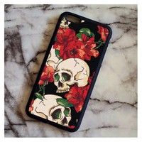 Skull Phone Cases for iPhone 4 5C 5S 6 6S 7 8 Plus X for Samsung Case Soft TPU Rubber Silicone
