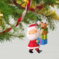 Kringle and Kris Delivering Gifts Ornament