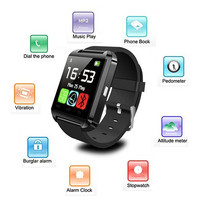 1pc Bluetooth Smart watch U8 Wrist Watches U Watch for iPhone 6/puls/5S Samsung S4/Note 3 HTC Android Phone Smartphones Wear G-W1074