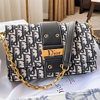 Hipgirls  Dior New fashion more letter canvas chain shoulder bag crossbody bag