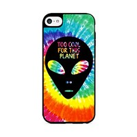 Too Cool For This Planet - Alien - Tie Dye - Hipster - iPhone 6 Black Case (C) Andre Gift Shop