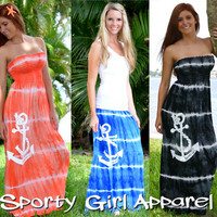 Convertible tie dye maxi Anchor Dress or Skirt