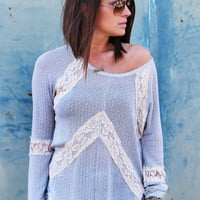 Lace Effect Lightweight Knit
