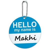 Makhi Hello My Name Is Round ID Card Luggage Tag